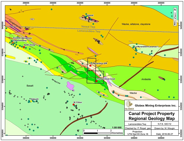 Canal Project Geology Map