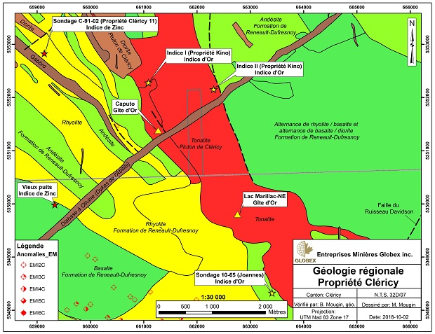 Clericy regional geology map