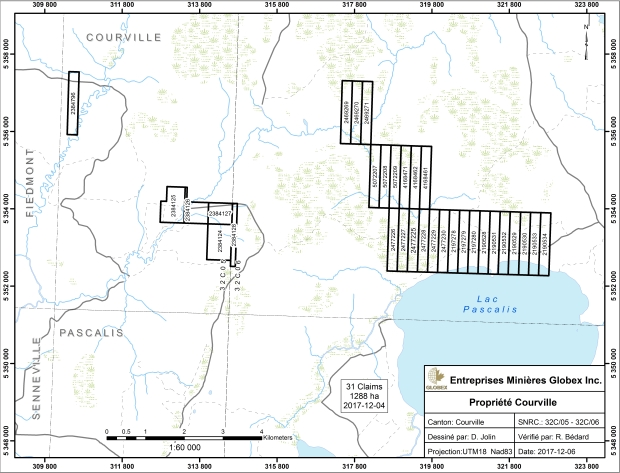 Courville claim map 2017