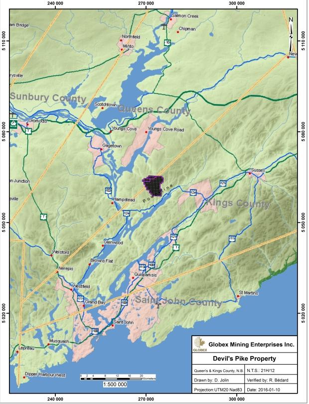Devil's Pike Claim Map