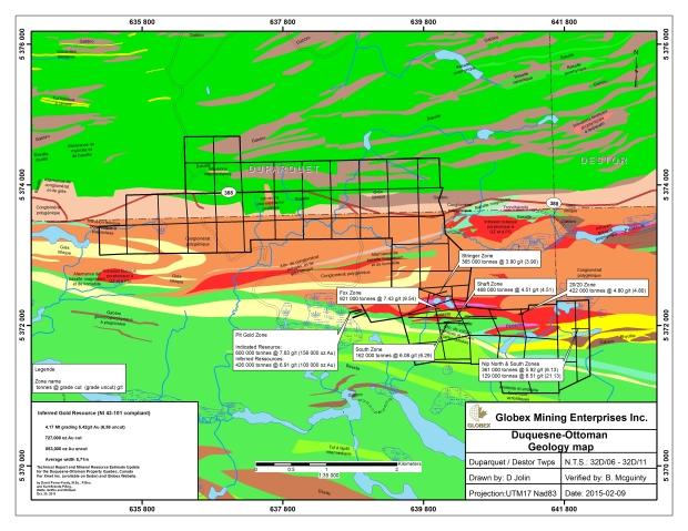 Regional geology map Duquesne Ottoman
