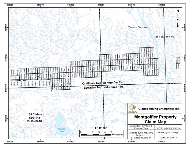 Montgolfier Claim Map 2015 - Globex