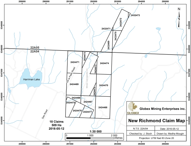 New Richmond Claim Map 2016