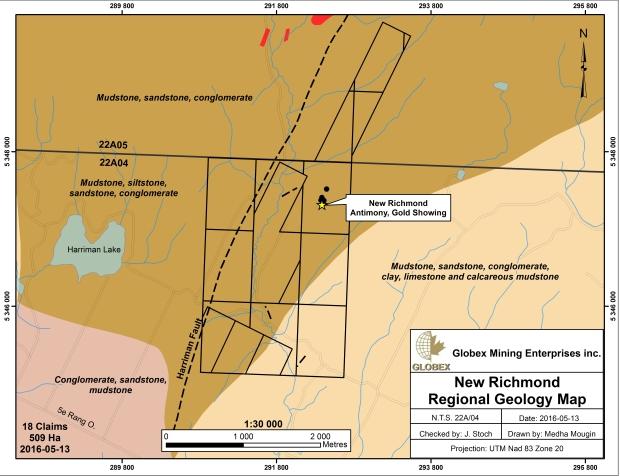 New Richmond Geology Map 2016