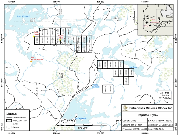 Pyrox Property 2017 claim map