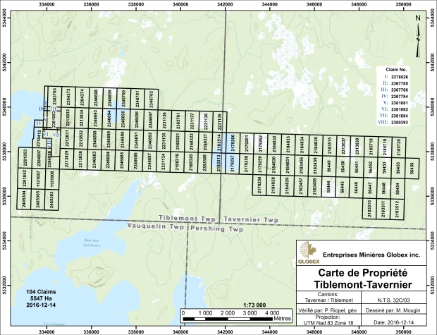 Tiblemont Tavernier claim maps 2016
