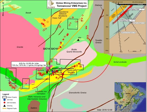 Tonnancour geology 2017