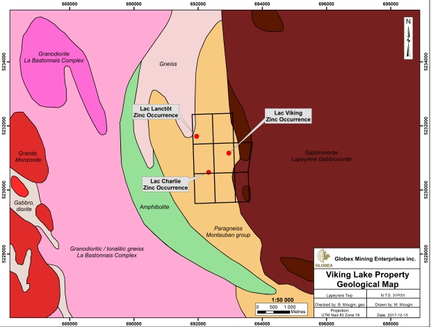 Viking Lake geology map 2017